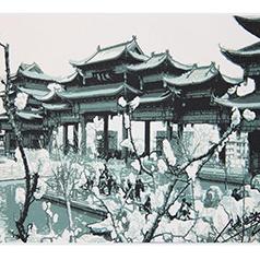 中国彩色剪纸传承人代表张延茹剪纸--华夏城 层层叠加