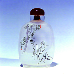 中国工艺美术大师 张广庆内画--虎溪三笑 送礼珍品
