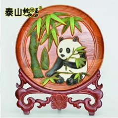 非物质文化遗产桃木雕刻传承人王来新--熊猫看盘