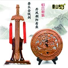 非物质文化遗产桃木雕刻传承人王来新--金钱剑组合
