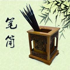 非物质文化遗产桃木雕刻传承人王来新--仿古桃木笔筒